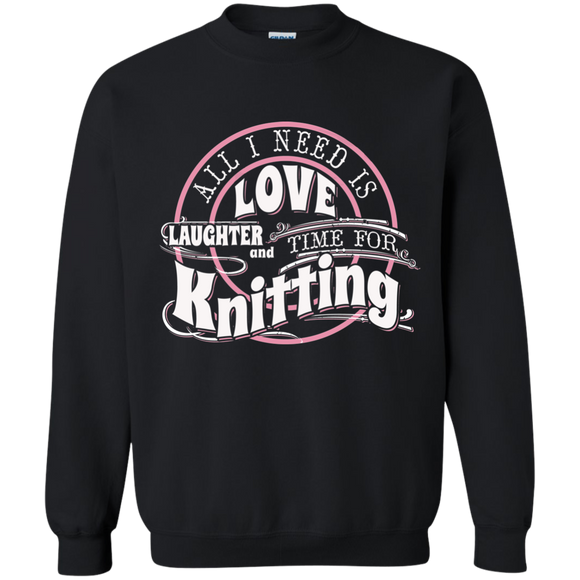 Time for Knitting Crewneck Pullover Sweatshirt