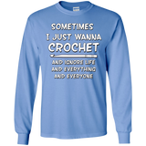 I Just Wanna Crochet LS Ultra Cotton T-Shirt