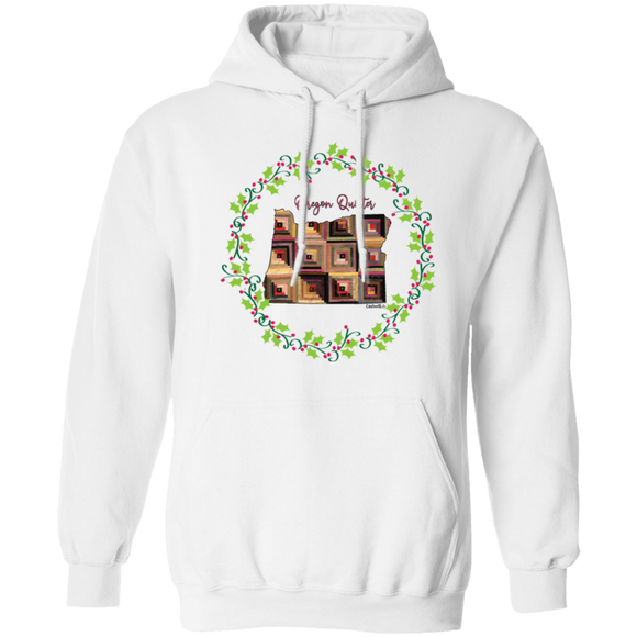 Oregon Quilter Christmas Pullover Hoodie