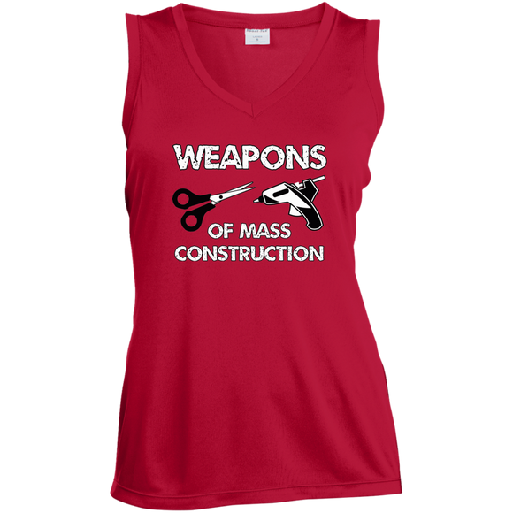 Weapons of Mass Construction Ladies Sleeveless Moisture Absorbing V-Neck