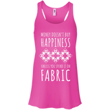 Money Doesn't Buy Happiness (Fabric) Flowy Racerback Tank