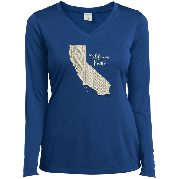 California Knitter Ladies' LS Performance V-Neck Shirt