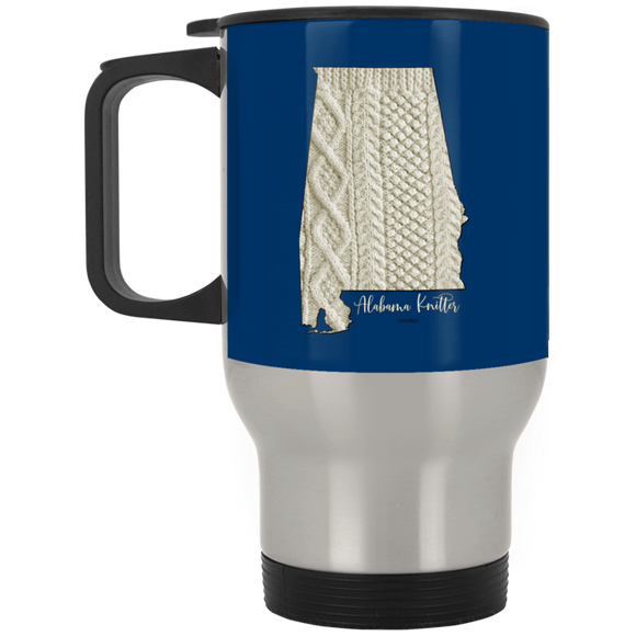 Alabama Knitter Silver Stainless Travel Mug