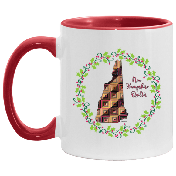 New Hampshire Quilter Christmas Accent Mug