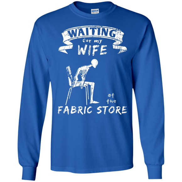 Waiting at the Fabric Store Long Sleeve T-Shirts - Crafter4Life - 6