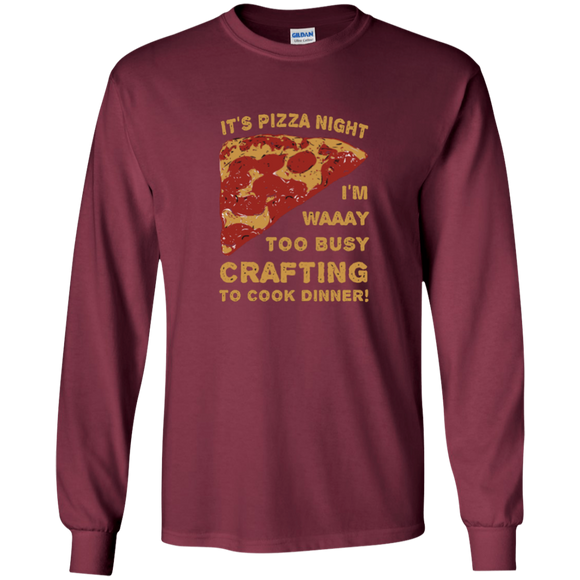 Pizza Night LS Ultra Cotton T-Shirt
