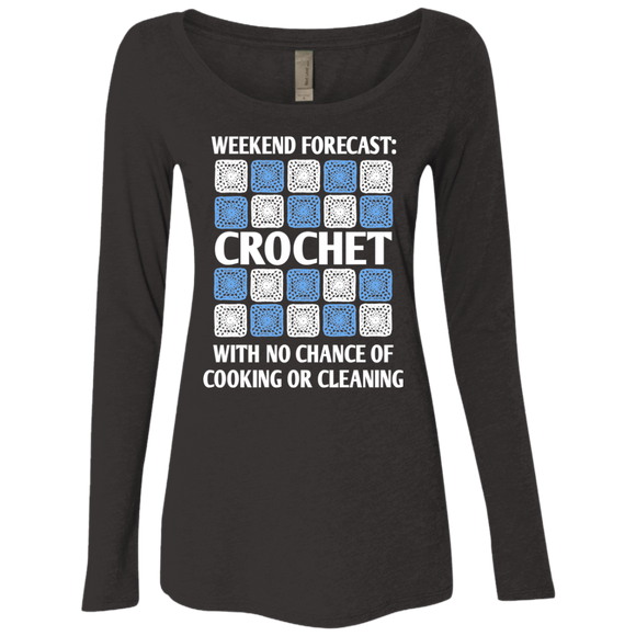 Weekend Forecast: Crochet Ladies Triblend LS Scoop