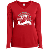 Time for Beading Ladies Long Sleeve V-neck Tee - Crafter4Life - 1