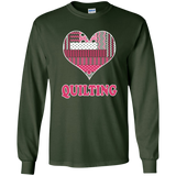 Heart Quilting Long Sleeve Ultra Cotton T-Shirt - Crafter4Life - 7