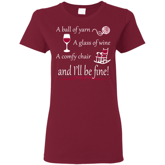 I'll be Fine Ladies Cotton T-Shirt