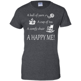 A Happy Me Ladies Custom 100% Cotton T-Shirt - Crafter4Life - 5