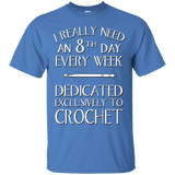 8th Day Crochet Custom Ultra Cotton T-Shirt - Crafter4Life - 5