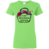If I Can't Take My Crocheting Ladies' Cotton T-Shirt