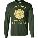 I Crochet So I Don't Hurt People Long Sleeve Ultra Cotton T-Shirt - Crafter4Life - 3