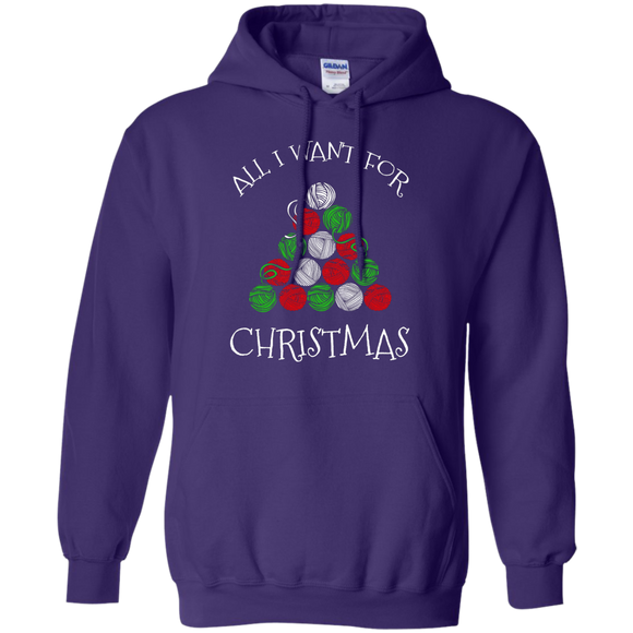 All I Want for Christmas is Yarn Pullover Hoodie