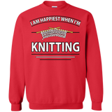 I Am Happiest When I'm Knitting Crewneck Sweatshirts - Crafter4Life - 8