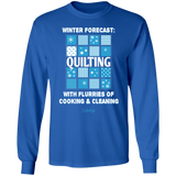 Winter Forecast Quilting Flurries LS Ultra Cotton T-Shirt