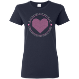 Piece of My Heart (Knit) Ladies Cotton T-Shirt