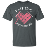 Knitting Makes My Heart Smile Ultra Cotton T-Shirt