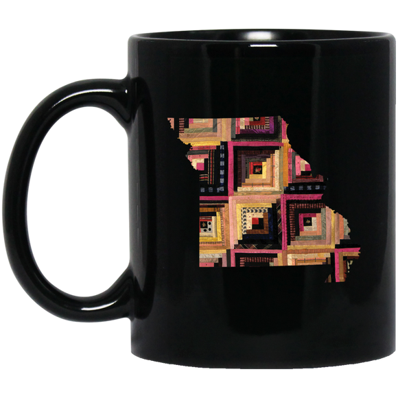 Missouri Quilter Black Mugs