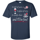 A Ball of Yarn a Glass of Wine Men's and Unisex T-Shirts - Crafter4Life - 7