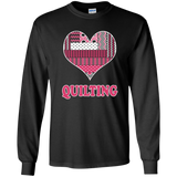 Heart Quilting Long Sleeve Ultra Cotton T-Shirt - Crafter4Life - 5
