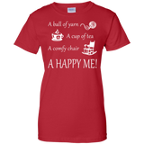 A Happy Me Ladies Custom 100% Cotton T-Shirt - Crafter4Life - 13