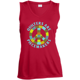 Quilters are Piecemakers Ladies Sleeveless V-Neck - Crafter4Life - 4
