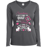 Time-Quilt-Mom Long Sleeve V-neck Tee - Crafter4Life - 5