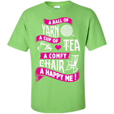 A Ball of Yarn, A Happy Me Custom Ultra Cotton T-Shirt - Crafter4Life - 1