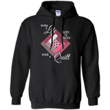 Make a Quilt (pink) Pullover Hoodies - Crafter4Life - 2