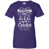 Scrapbookers Don't Lie Ladies Custom 100% Cotton T-Shirt - Crafter4Life - 10