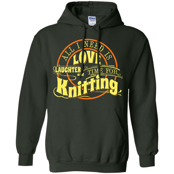 Time for Knitting (yellow) Pullover Hoodies - Crafter4Life - 1