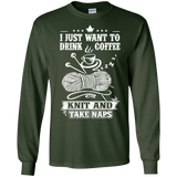 Coffee-Knit-Nap Long Sleeve Ultra Cotton T-Shirt - Crafter4Life - 5