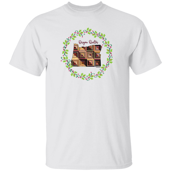 Oregon Quilter Christmas T-Shirt