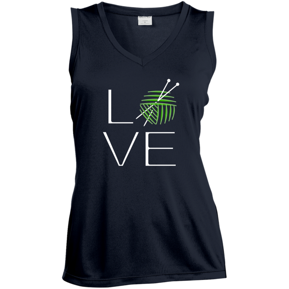 LOVE Knitting Ladies Sleeveless Moisture Absorbing V-Neck