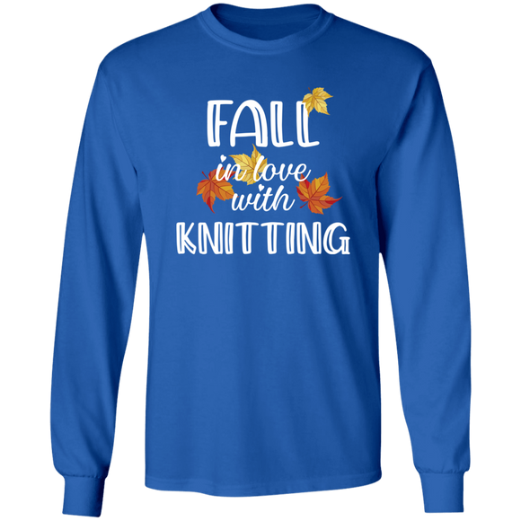 Fall in Love with Knitting LS Ultra Cotton T-Shirt