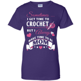 Crochet Mom Ladies Custom 100% Cotton T-Shirt - Crafter4Life - 9