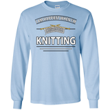 I Am Happiest When I'm Knitting Long Sleeve Ultra Cotton T-Shirt - Crafter4Life - 5