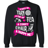 A Ball of Yarn, A Happy Me Crewneck Sweatshirts - Crafter4Life - 3
