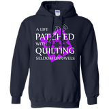 Quilting Seldom Unravels Pullover Hoodie