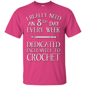 8th Day Crochet Custom Ultra Cotton T-Shirt - Crafter4Life - 1