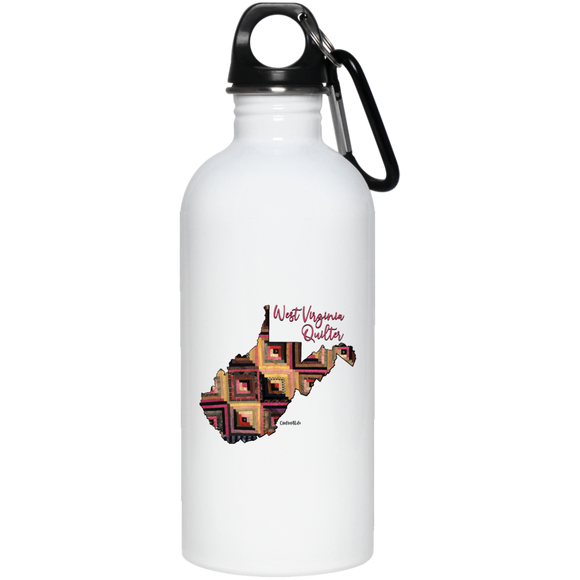 West Virginia Quilter Stainless Steel Water Bottle