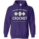 I Am Happiest When I Crochet Pullover Hoodies - Crafter4Life - 2