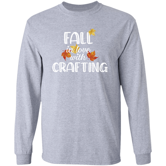 Fall in Love with Crafting LS Ultra Cotton T-Shirt
