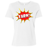 Yarn! Comic Starburst Ladies Relaxed Jersey Short-Sleeve T-Shirt