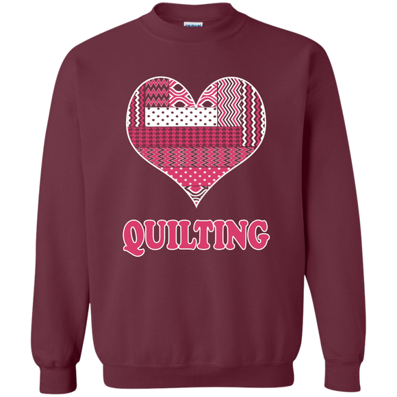 Heart Quilting Crewneck Sweatshirt - Crafter4Life - 1