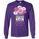 Happiness Blooms with Crafts Long Sleeve Ultra Cotton T-Shirt - Crafter4Life - 8