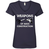Weapons of Mass Construction Ladies V-Neck T-Shirt