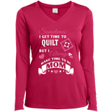 Time-Quilt-Mom Long Sleeve V-neck Tee - Crafter4Life - 2